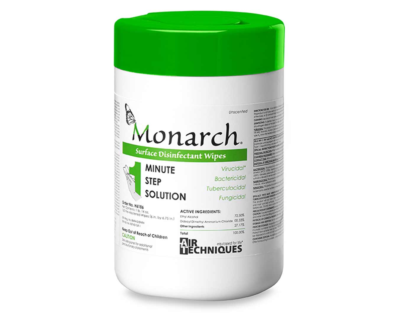 Monarch Surface Disinfectant Wipes Air Techniques
